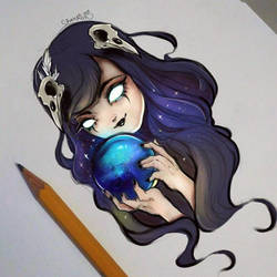Witch drawing by CharlienChan