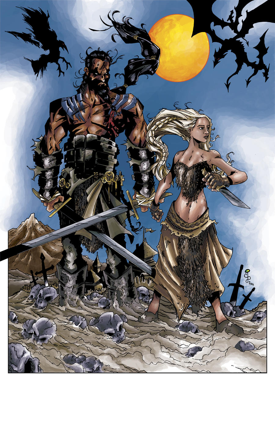Khal Drogo and Khalessi by CjB-Productions