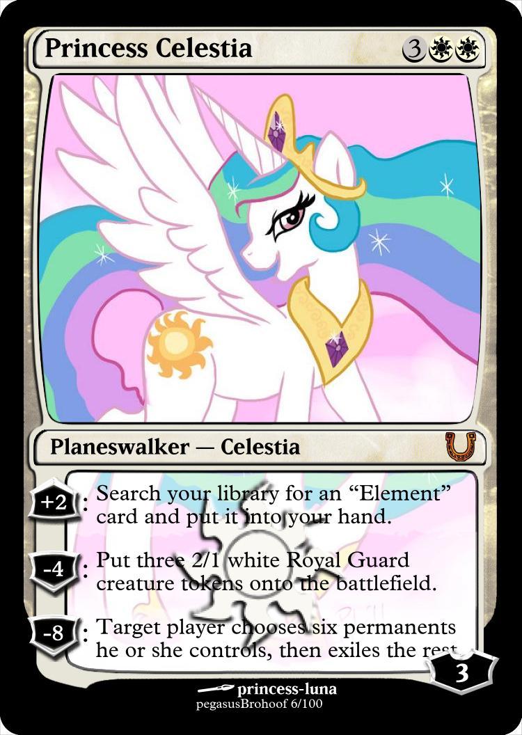MLP_FiM_MTG- Princess Celestia by pegasusBrohoof