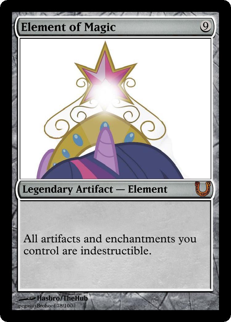 MLP_FiM_MTG - Element of Magic by pegasusBrohoof