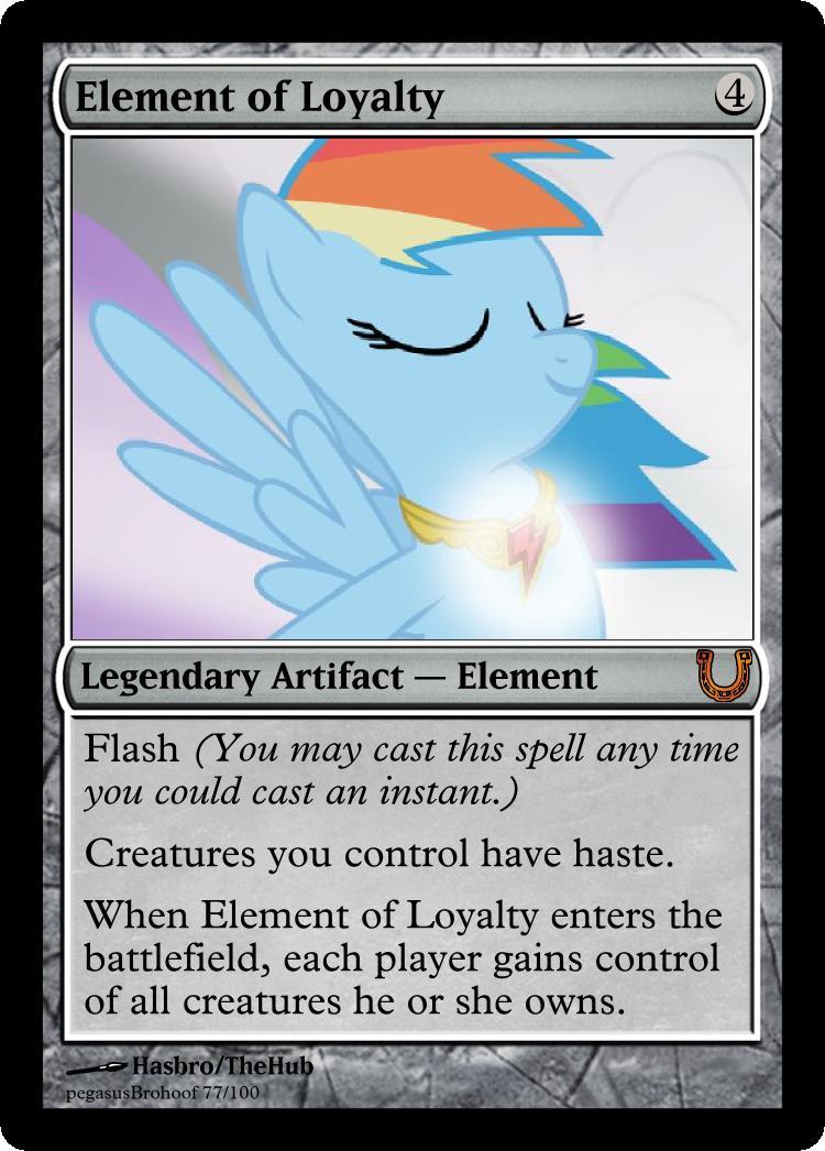 MLP_FiM_MTG-Element of Loyalty by pegasusBrohoof