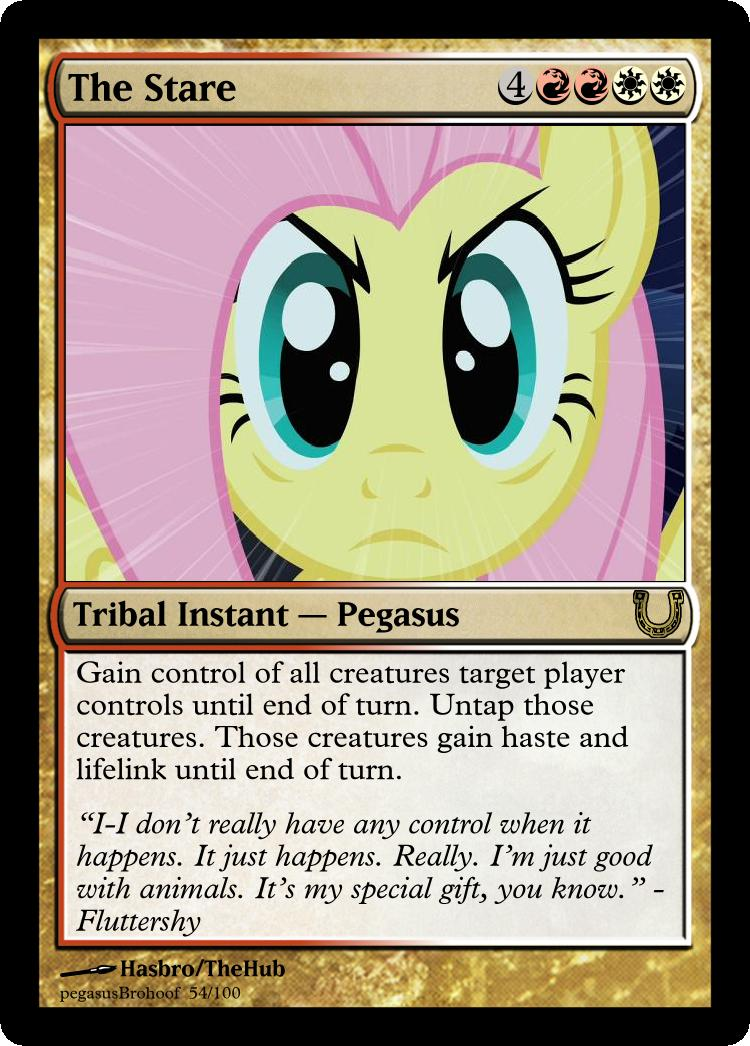 MLP_FiM_MTG - The Stare by pegasusBrohoof