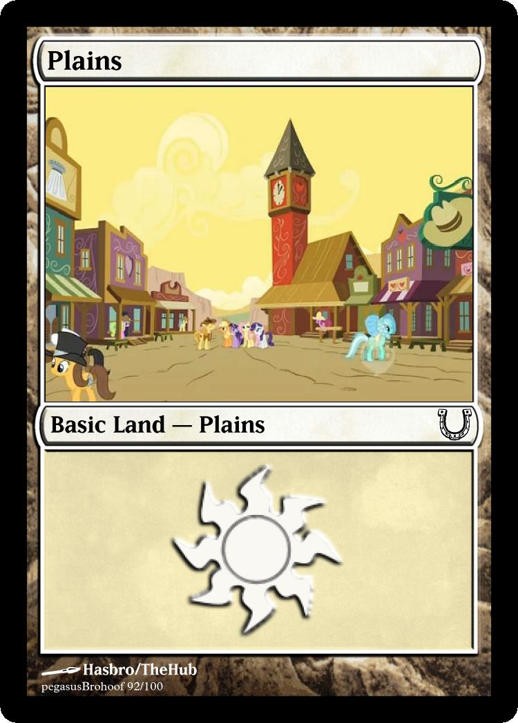 MLP_FiM_MTG - Plains by pegasusBrohoof