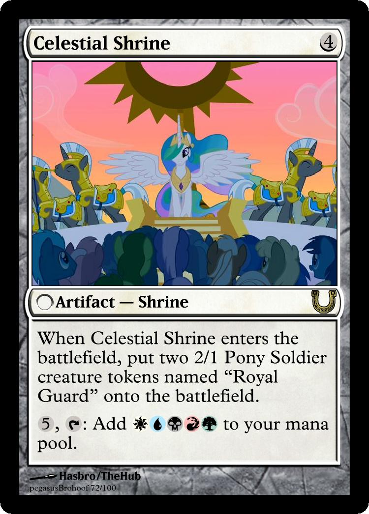 MLP_FiM_MTG - Celestial Shrine by pegasusBrohoof