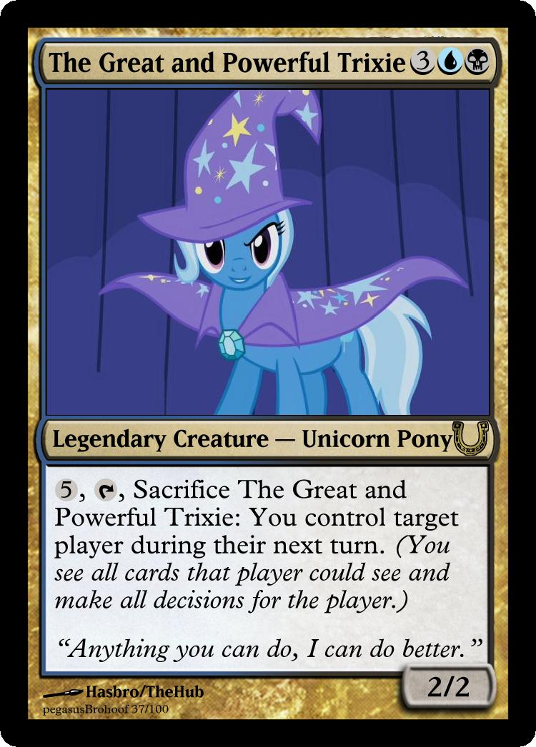 MLP_FiM_MTG - TGaP Trixie by pegasusBrohoof