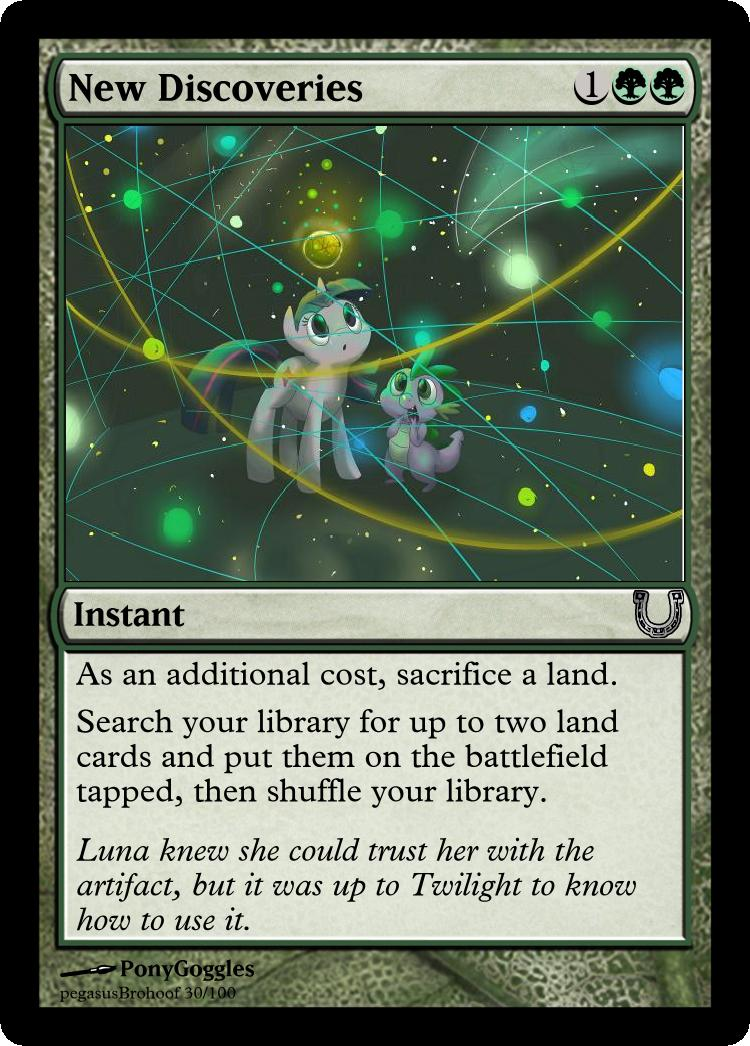MLP_FiM_MTG - New Discoveries by pegasusBrohoof