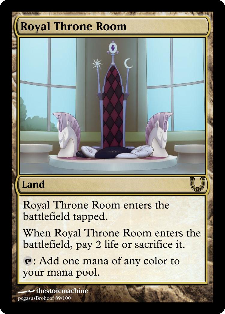 MLP_FiM_MTG- Royal Throne Room by pegasusBrohoof