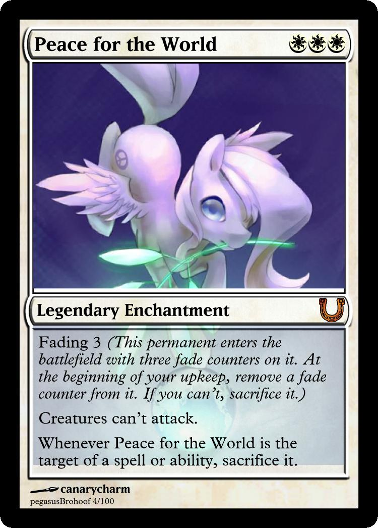 MLP_FiM_MTG - PeacefortheWorld by pegasusBrohoof