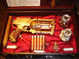 steampunk vampyre slaying kit by saqaxiwan