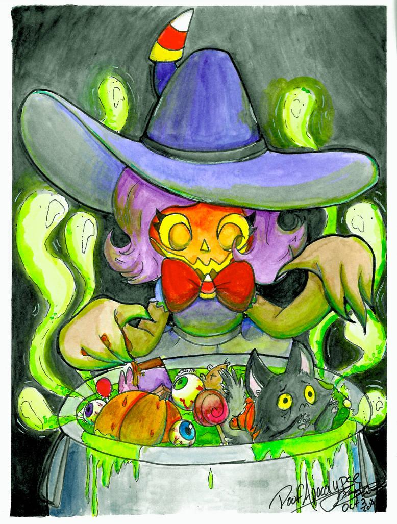 Eve Makes a Halloween Brew