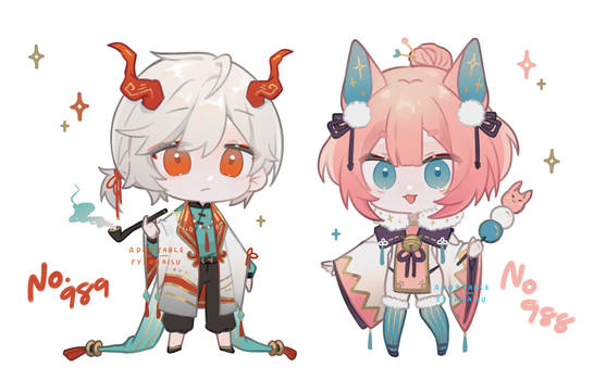 [CLOSED] ADOPTABLE AUCTION #989 #988