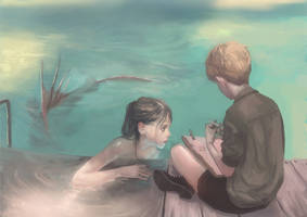 Mermaid and boy2 by Divedog