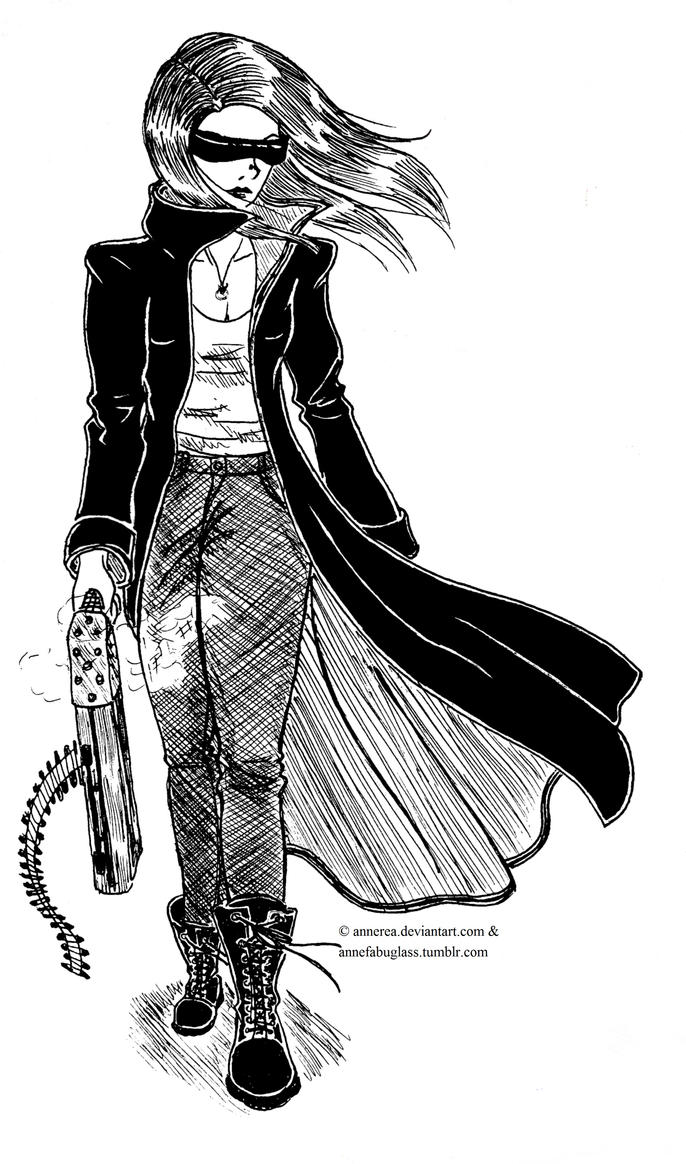 Future City Gunslinger by Annerea