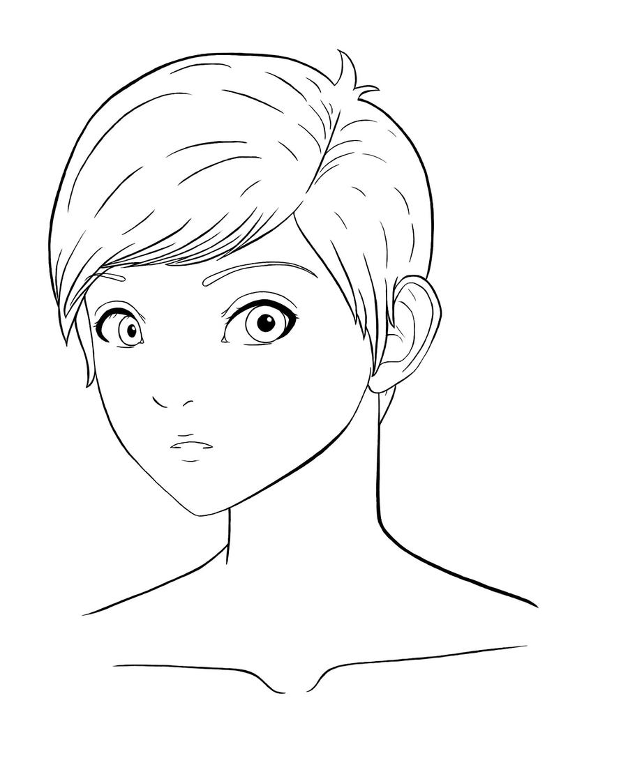 Line Drawing Boy Face : Young boy line art by laetificus fortunate on deviantart