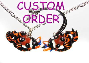 Custom Order Necklace n Charm by SolarMew
