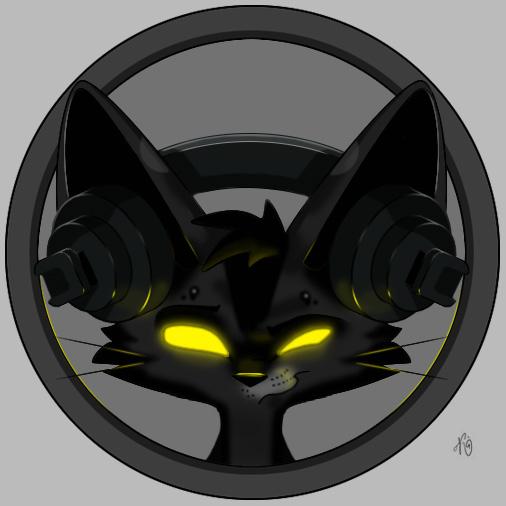 cat in headphones... by SolarMew on DeviantArt