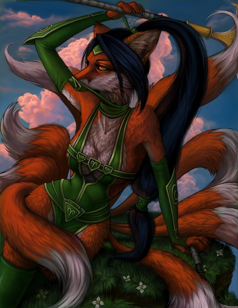 Foxy Akali by Enchantress-LeLe