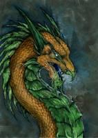 Gold Dragon by Enchantress-LeLe