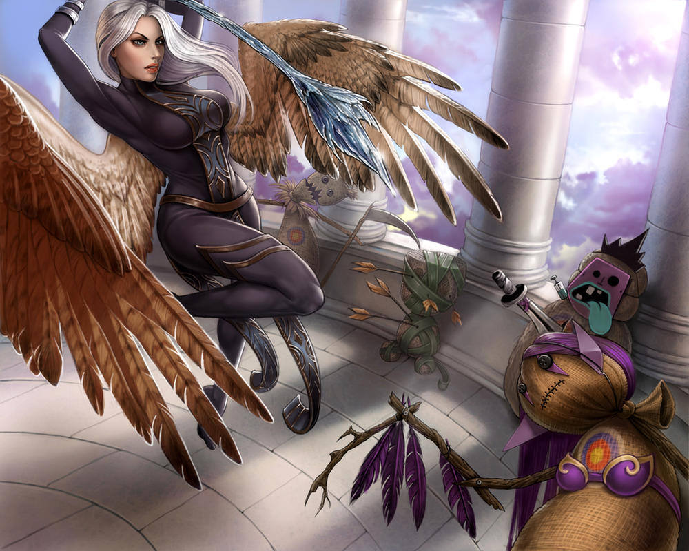 Kayle Prepares by Enchantress-LeLe
