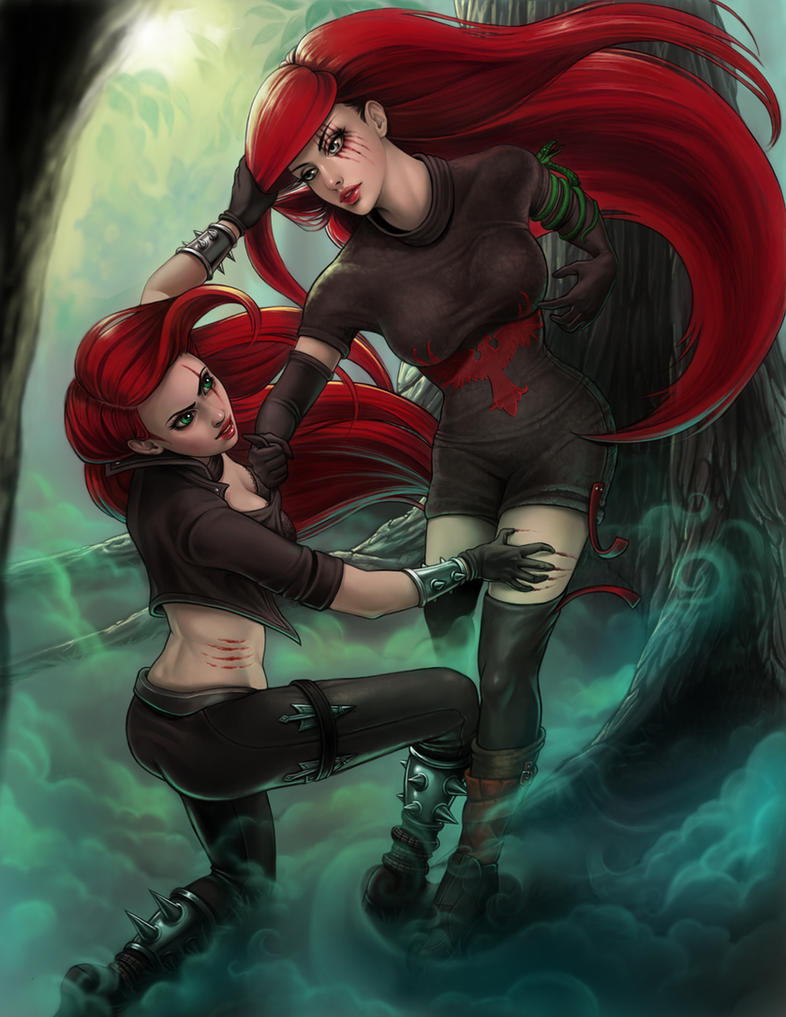 Katarina and Kathrow by Enchantress-LeLe