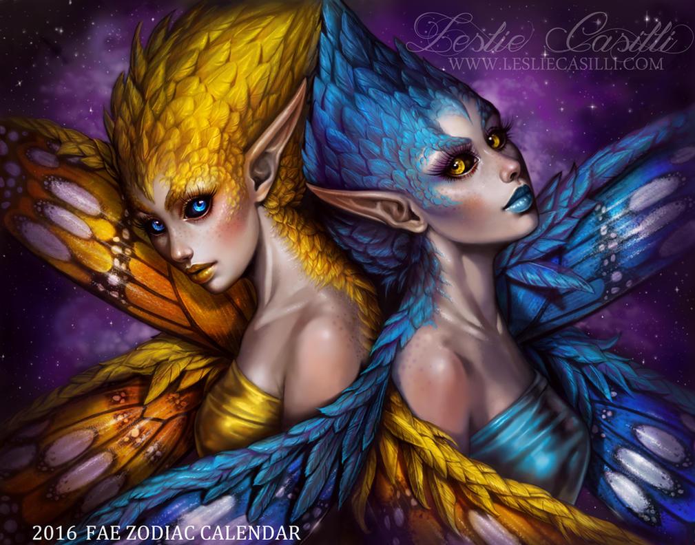 Gemini - 2016 Fae Zodiac Calendar by Enchantress-LeLe
