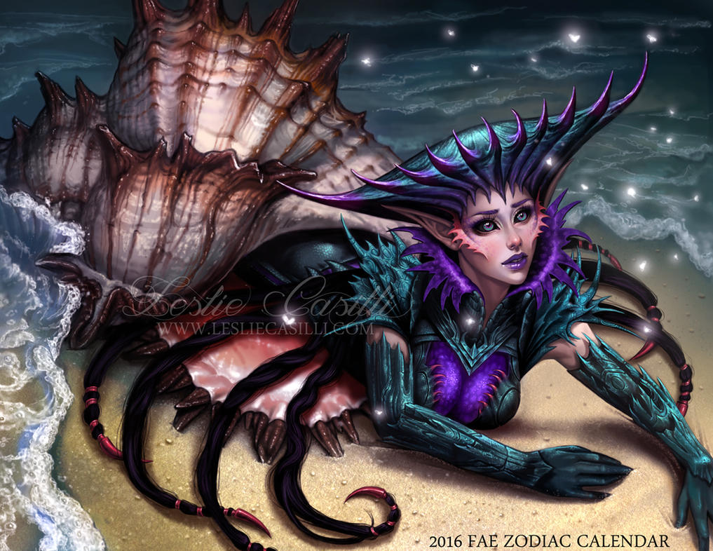 Cancer - 2016 Fae Zodiac Calendar by Enchantress-LeLe
