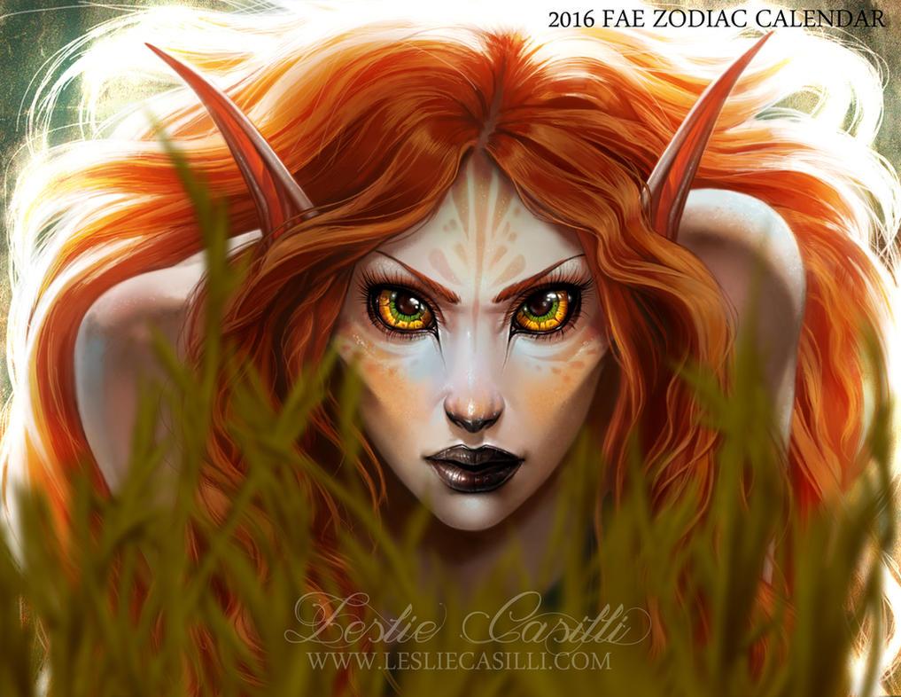 Leo - 2016 Fae Zodiac Calendar by Enchantress-LeLe