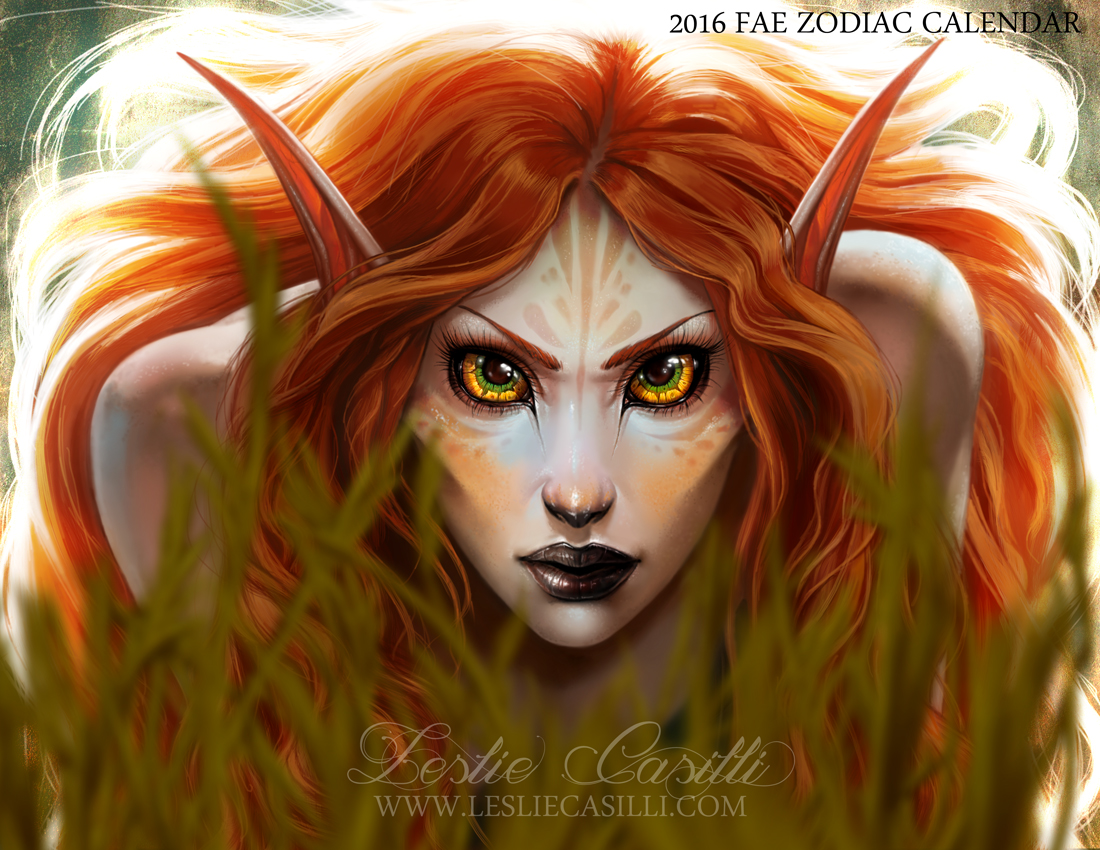 Leo - 2016 Fae Zodiac Calendar by Enchantress-LeLe on ...