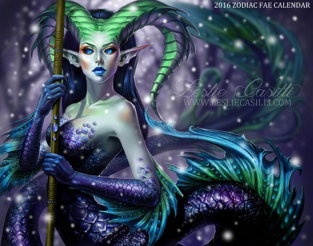 Capricorn - 2016 Zodiac Fae Calendar by Enchantress-LeLe