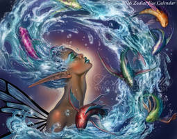 Aquarius - 2016 Fae Zodiac Calendar by Enchantress-LeLe