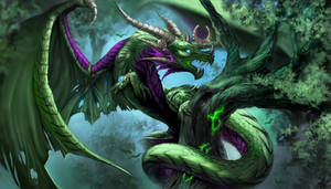 Ysera and Emerald Dream by Enchantress-LeLe
