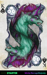 Savage Majesty: King of Clubs by Enchantress-LeLe