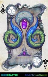 Savage Majesty: Ace of Clubs by Enchantress-LeLe