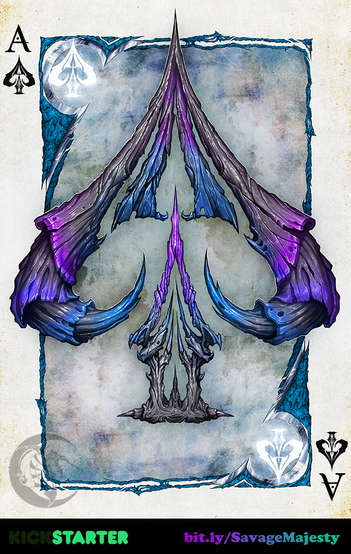 Savage Majesty: Ace of Spades by Enchantress-LeLe