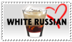 White Russian Cocktail Stamp