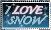 Love Snow Stamp