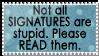 Read signatures