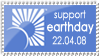 Earthday blue by MyStamps