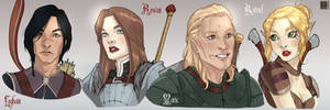 Dragon age The Stolen Throne - characters concept