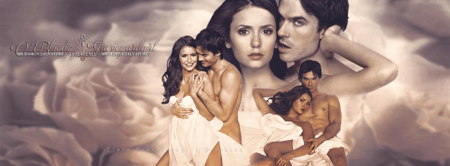 Damon and elena timeline cover 25 by elenagraveyardgirl for Damon y elena