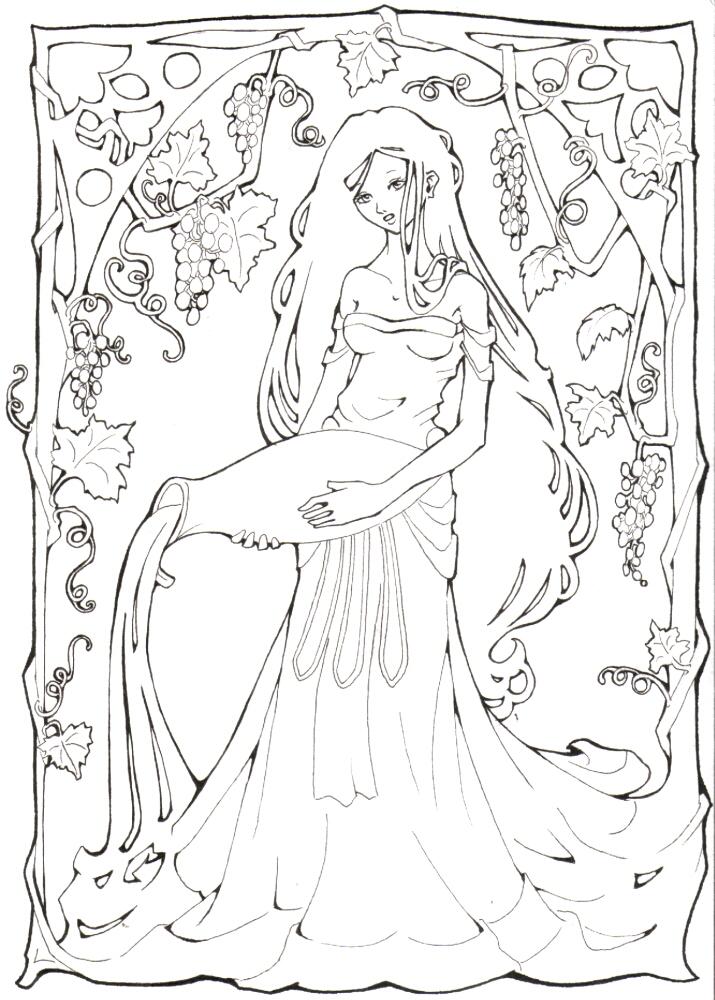 goddess of wine by lilifane