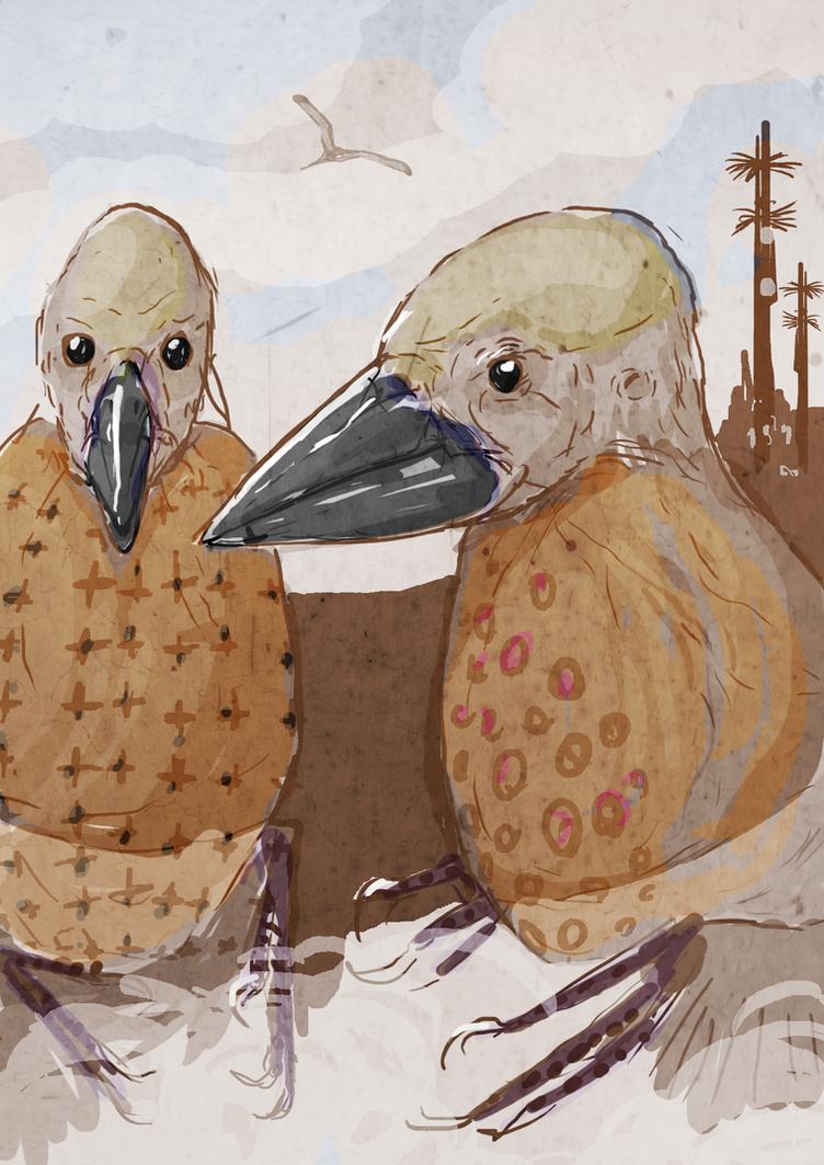 Two 'Monkbird' Gentlemen by nemo-ramjet