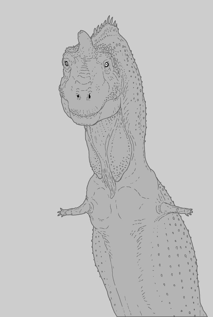Majungasaurus Mating Display by nemo-ramjet