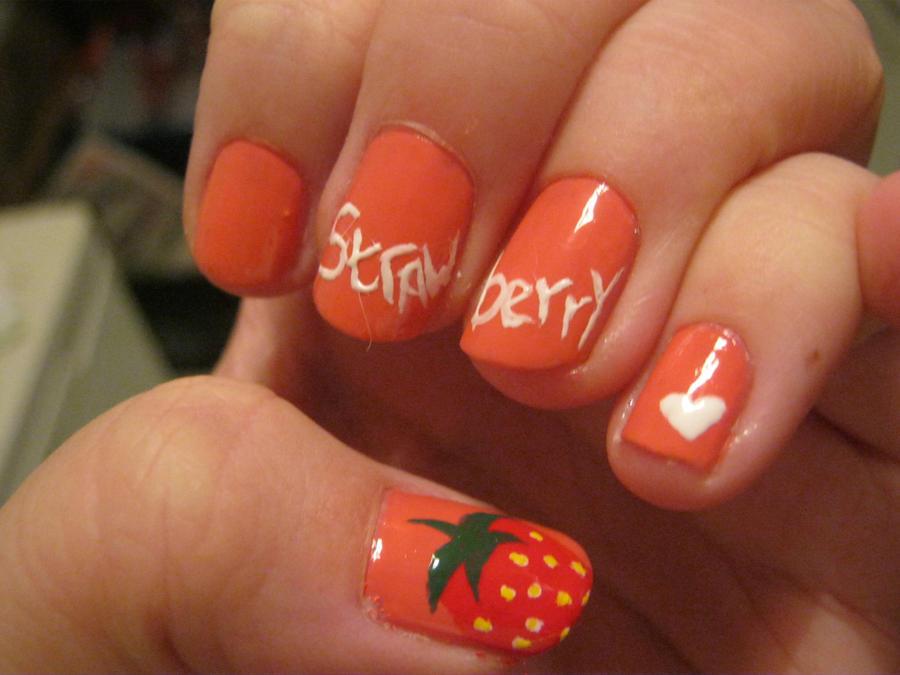 Strawberry Nail Art By Vixen270991 On Deviantart