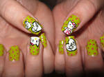hello kitty nail art by VIXEN270991