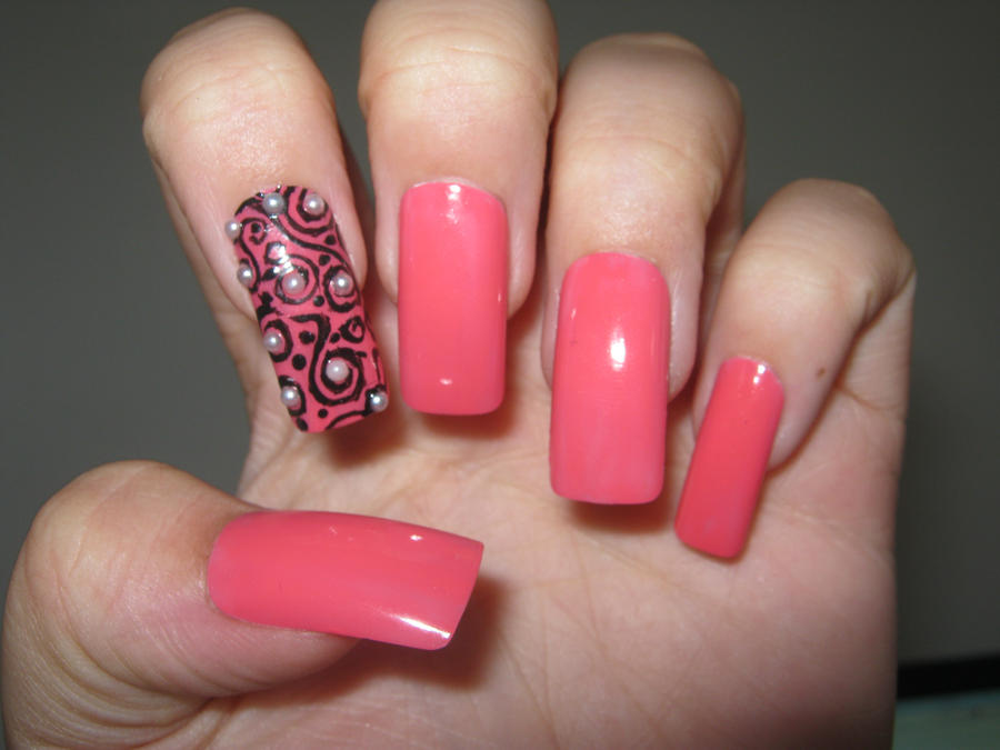 pink nail art by VIXEN270991 on DeviantArt