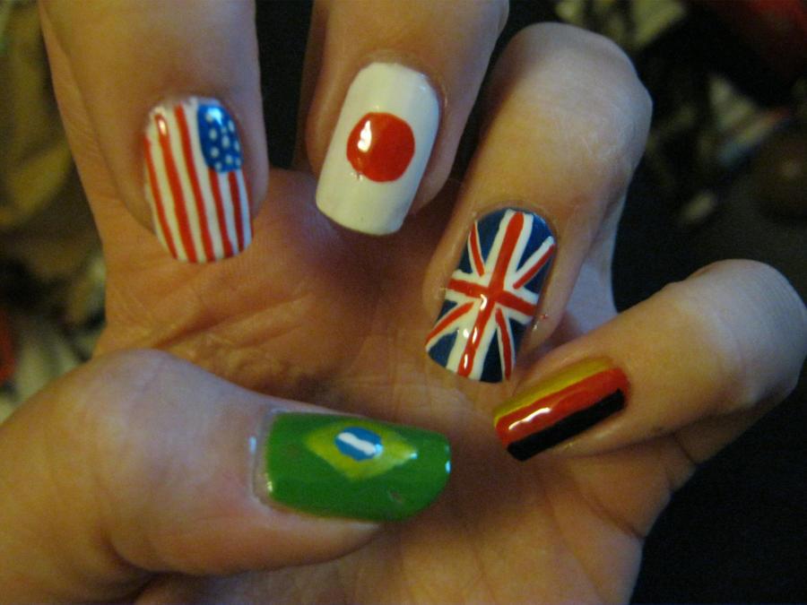 flags of the world nail art by VIXEN270991 on DeviantArt