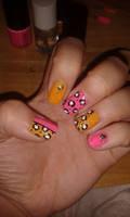 Pink and orange leopard print by VIXEN270991