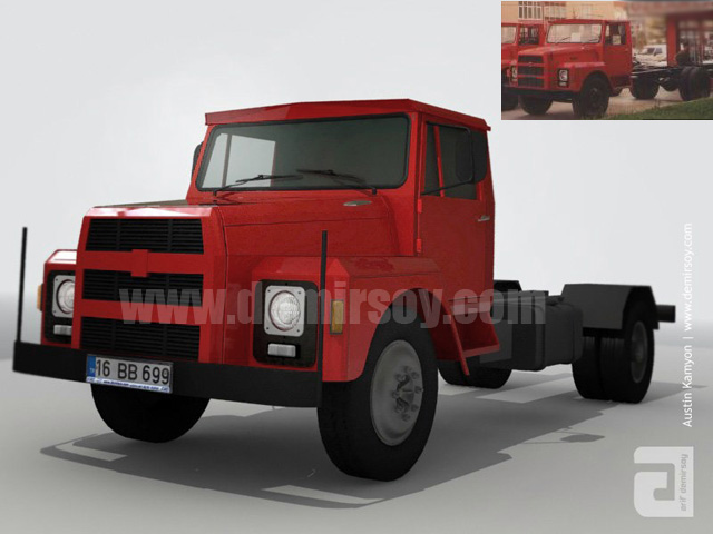 BMC Austin TM 140 Old Truck by demirsoy