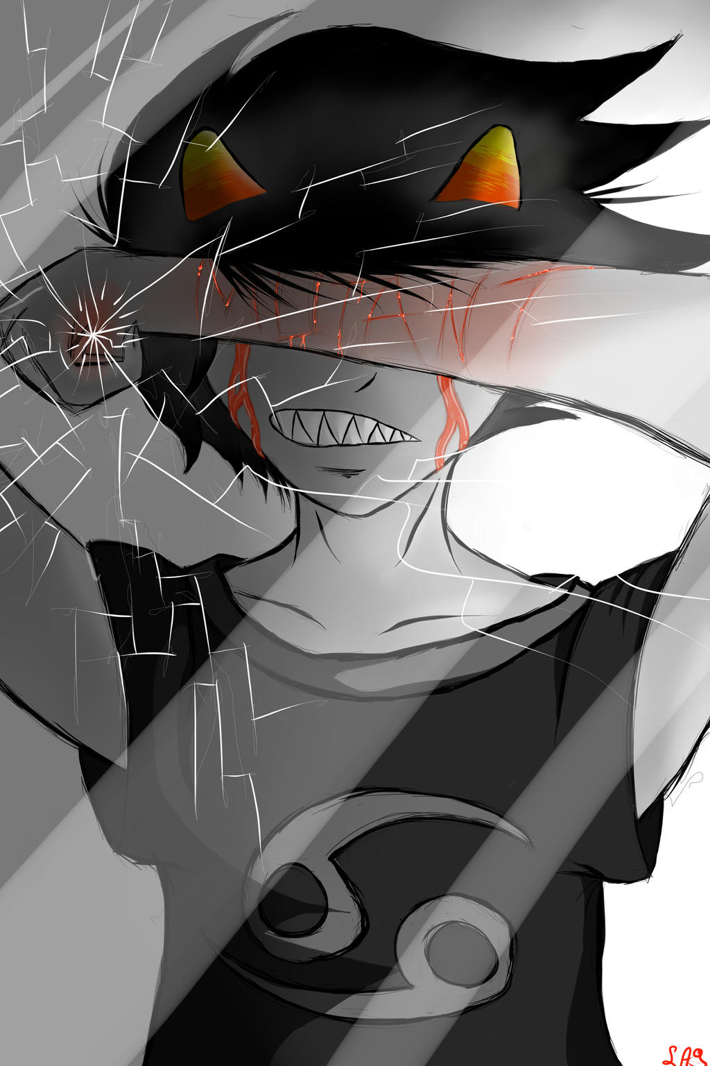 karkat sadstuck screenlock thing by landedasteroid9 on